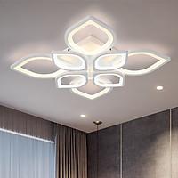 Đèn LED trần mâm trang trí 8 cánh sen 3 màu ánh sáng có điều khiển GS08