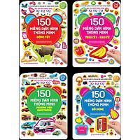 Combo 150 Miếng Dán Hình Thông Minh - IQ-EQ-CQ(trọn bộ 4 cuốn)