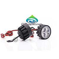 Đèn Led trợ sáng xe máy gắn chân gương 206401 (2 đèn) + Tặng 1 Đèn Led Gắn van xe .