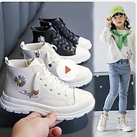 Giày bốt bé gái, giày boot cao cổ cho bé phong cách hàn quốc, da mềm cho bé 4 tuổi - 15 tuổi