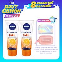 Combo 2 Sữa Dưỡng Thể Dưỡng Trắng Nivea Extra White C & E Vitamin - 180ml - 84374