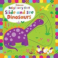 Sách tương tác tiếng Anh - Usborne Baby's Very First Slide and See Dinosaurs