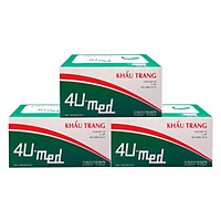 Bộ 3 Hộp Khẩu Trang Y Tế 4U Med (Hộp 50 Cái)