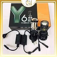 Đèn Pha Led ô tô xe máy Y6 mini lens siêu sáng Y6 (1 hộp 2 bóng)