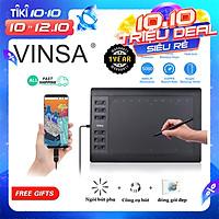 VINSA 1060PLUS Máy tính bảng kỹ thuật số Máy tính bảng vẽ 8192 Độ nhạy áp suất Máy tính bảng không dùng pin Máy tính bảng Bút vẽ tay Artdesig