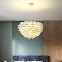 Đèn chùm LUISTE lông vũ cao cấp, hiện đại, sang trọng loại 60cm với 3 chế độ ánh sáng - kèm bóng LED chuyên dụng.