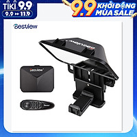 Bestview T3 Upgraded Smartphone/Tablet/DSLR Camera Teleprompter Prompter with Remote Control Lens Adapter Ring Supports