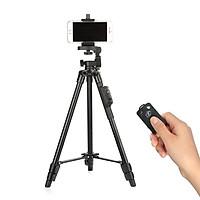 Chân Đế Máy Ảnh, Camera, Điện Thoại Tripod TTX-6218 Có Remote Bluetooth, Kẹp Điện Thoại Xoay Ngang Dọc
