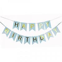 Dây treo sinh nhật Happy Birthday 14 x 20cm
