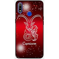 Ốp lưng dành cho Realme 3 Pro mẫu Cung hoàng đạo Capricorn (đỏ)