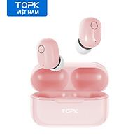 Tai nghe không dây TOPK T12 bluetooth 5.0  cho iPhone 12 Pro Max Samsung Huawei OPPO Vivo - hàng chính hãng
