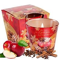 Ly nến thơm tinh dầu Bartek Golden Christmas 115g QT06552 - táo, quế, hồi (Giao mẫu ngẫu nhiên)