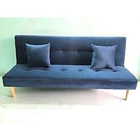Ghế sofa bed, sofa giường xanh dương đậm nhung CG, salon phòng khách