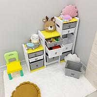 Tủ nhựa, kệ đa năng Holla 11 ngăn đựng đồ dùng, đồ chơi, sách truyện, rèn luyện tính tự lập và không chứa BPA đảm bảo an toàn cho bé
