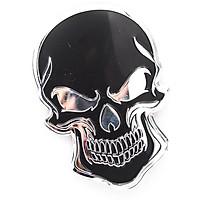 Sticker hình dán metal Đầu Lâu màu đen