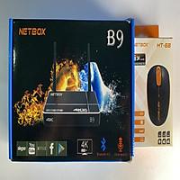 Android Tivi Box NETBOX B9 Ram 2Gb Rom 16Gb 4K UltraHD, KÈM CHUỘT KHÔNG DÂY NETBOX HT68 - Hàng Chính Hãng