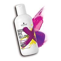 Dầu gội tím khử ánh vàng cho tóc trắng bạch kim Schwarzkopf Goodbye Yellow PH 4.5 Neutralizing Wash Shampooing 300ml