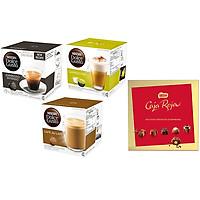 Combo 3 Hộp Viên Nén NESCAFÉ Dolce Gusto Vị Espresso, Cappucino, Aulait - Tặng 1 Hộp Kitkat Chocolate Caja Roja Trị Giá 189.000 VND
