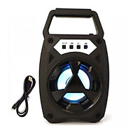 Loa Bluetooth xách tay HN BT-1307 Led nhấp nháy theo nhạc Tặng Kèm 1 dây sạc theo loa - Màu ngẫu nhiên - Hàng nhập khẩu