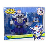 Đồ Chơi SUPERWINGS Robot Biến Hình Cỡ Lớn Paul Cảnh Sát Kết Hợp Thú Cưng Paul YW750945