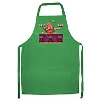 Tạp Dề Làm Bếp In Hình Bạch tuộc pha chế - ABZTU004 – Màu Xanh