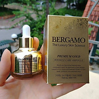 SERUM BERGAMO PREMIUM GOLD WRINKLE CARE AMPOULE 30ML TẶNG 2 MẶT NẠ JANT BLANC