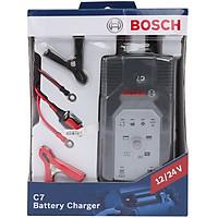 Máy sạc bình ắc quy cho ô tô xe máy Bosch C7 - Hàng chính hãng