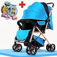 Xe đẩy trẻ em 2 chiều gấp gọn, xe đẩy cho bé HT 105 - 2 chiều 3 tư thế đa năng kiểu dáng sang trọng, dễ dàng mang theo ( TẶNG KÈM BỘ ĐỒ CHƠI XÚC XẮC ĐÁNG YÊU CHO BÉ ) - xe đẩy du lịch, xe đẩy gấp gọn, xe đẩy cho bé, xe đẩy em bé
