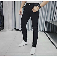 Quần jean nam đen trơn Julido Store, chất jean co dãn 4 chiều tôn dáng nam tính BC20