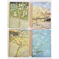 Sổ vở lò xo kẻ ngang bìa cứng Vincent Van Gogh B5 320 trang 18,5x26,5cm - 1 cuốn - mẫu ngẫu nhiên