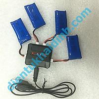 sạc pin 3.7 V, 4 viên cổng USB, báo pin đầy kde2951