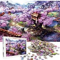 Bộ Tranh Ghép Xếp Hình 1000 Pcs Jigsaw Puzzle Tranh Ghép (75*50cm) Biệt Thự Sukura Bản Đẹp Cao Cấp