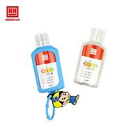 Set gel rửa tay khô kèm dây treo balo Hồng Hà Kids care+ 50ml (Combo 2 lọ gel rửa tay + 1 dây treo cao su)