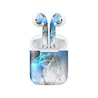 Miếng dán skin chống bẩn cho tai nghe AirPods in hình vân đá - dah014 (bản không dây 1 và 2)