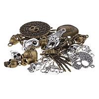 100 Grams Jewellery Making Charms Skeleton Skull Pendants Craft Keyrings DIY