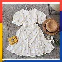 Đầm Trắng Hoa Nhí dễ thương