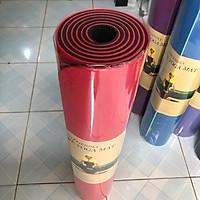 Thảm Tập Yoga chống trượt 2 lớp dày 8mm chất liệu cao su non TPE cao cấp tấm thảm tập gym thể dục tại nhà