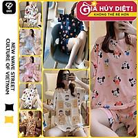 Bộ Đồ Ngủ Ngắn Tay Dáng Rộng,Đồ mặc ở nhà nữ Kiểu Hàn Quốc Thoáng Mát Thiết Kế Ngọt Ngào Cho Nữ ONEZ B1