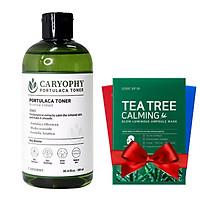 Nước hoa hồng làm giảm mụn và ngăn ngừa mụn Caryophy Portulaca Toner 300ml + Tặng Kèm 1 Mặt nạ dưỡng da Some By Mi