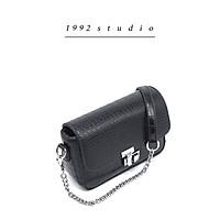 Túi xách nữ/ 1992 s t u d i o/ PETTY BAG/ màu đen da vân