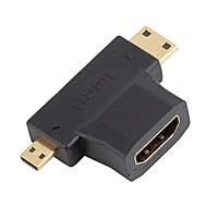 Đầu chuyển đổi Micro HDMI, Mini HDMI sang HDMI Female