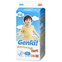 Tã dán Nhật cao cấp Genki (L, 54 miếng)