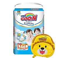 Bỉm quan Goon premium size L tặng kèm balo
