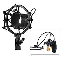Metal Univerdal Condenser Microphone Mic Shock Mount Holder Bracket Anti-vibration for On-line Broadcasting Studio Music