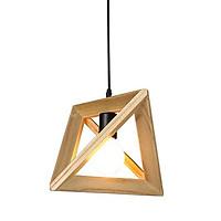 Đèn thả gỗ tam giác đa chiều sơn bóng Goldseee kèm bóng LED