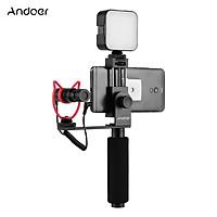 Tay cầm điện thoại chống rung thông minh Andoer với kẹp kích thước 40mm-85mm
