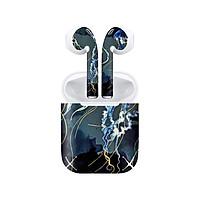 Miếng dán skin chống bẩn cho tai nghe AirPods in hình Sứa biển giả sơn mài - GSM190 (bản không dây 1 và 2)