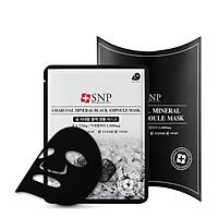 Hộp Mặt Nạ Than Hoạt Tính Se Khít Lỗ Chân Lông SNP Charcoal Mineral Black Ampoule Mask