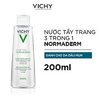 Nước Tẩy Trang 3 Trong 1 Dành Cho Da Dầu Mụn Vichy Normaderm 3 in 1 Micellar Solution 200ml