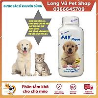 Phấn tắm khô FAY Puppy 120gr khử mùi cho chó mèo con